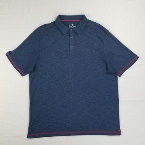 Nat Nast Men's XL Blue Polo Red Trim Short Sleeve